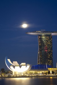 Marina Bay Sands Backpacking Singapur