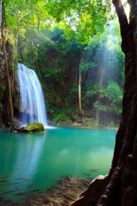 Erawan Waterfall, Kanchanaburi, Thailand Backpacking in Thailand