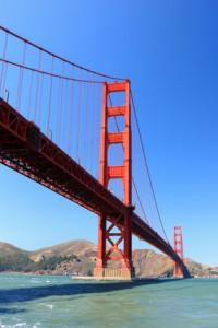 Au Pair bei der Golden Gate Bridge in San Francisco