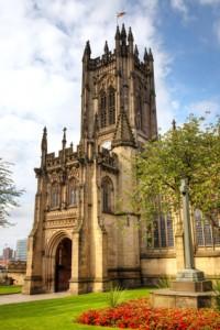 Manchester Cathedral beim Au Pair fotografiert