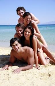 Abifahrtgruppe in Griechenland auf Abifahrt