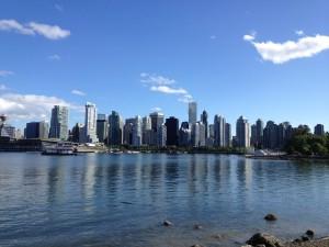 Blick auf Vancouver Downtown beim Au Pair