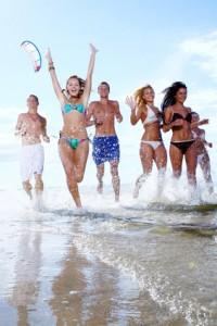 Abifahrt nach Spanien am Strand